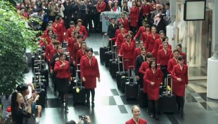 Flash mob by Cathay Pacific's Cabin Crew