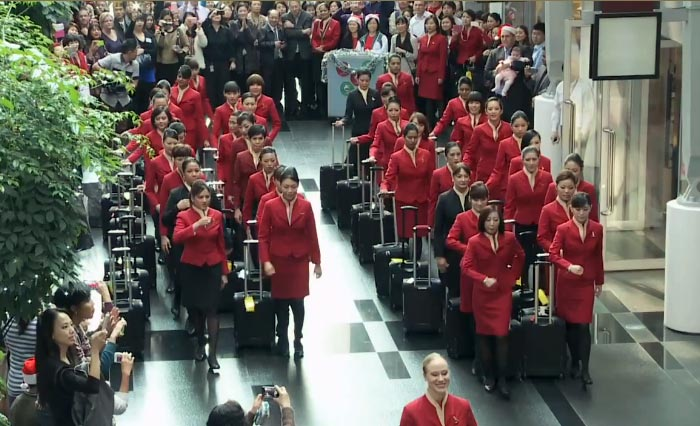 Cathay Pacific Cabin Crew Flash Mob