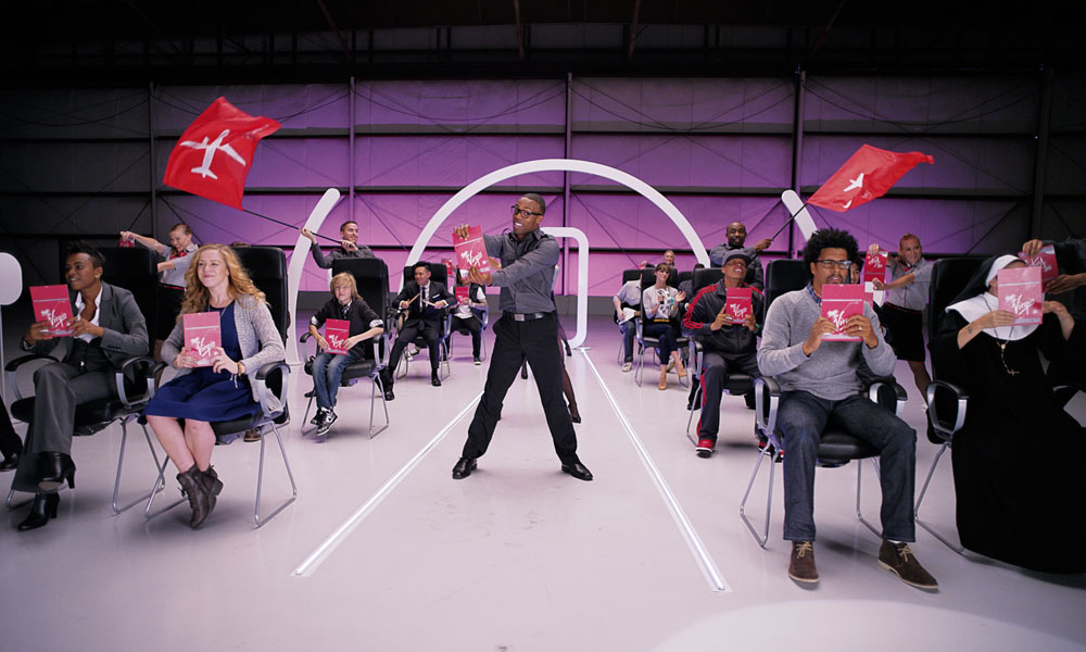 Virgin America safety demo