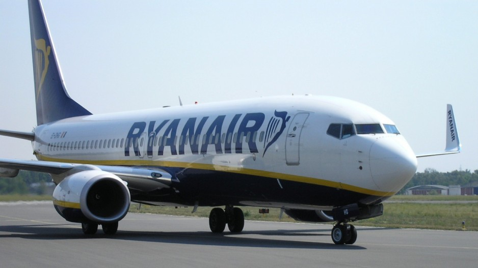 Drunk Ryanair passenger urinates on the floor