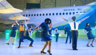 Alaska Airlines does an '80s-style 'Safety Dance' music video