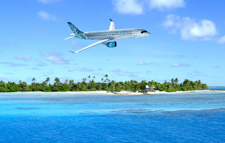 Fly Coral Way Airbus A220